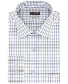 Van Heusen Men's Classic/Regular Fit Stretch Flex Blue Check Dress Shirt