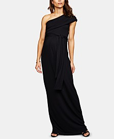 Maternity One-Shoulder Maxi Dress