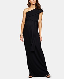 Isabella Oliver Maternity One-Shoulder Maxi Dress