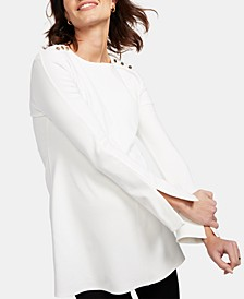 Maternity Button-Shoulder Top