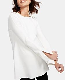 Isabella Oliver Maternity Button-Shoulder Top