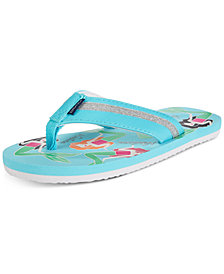 Nautica Little & Big Girls Stetson Mermaid-Print Flip-Flops