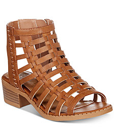 Sugar Little & Big Girls Strappy Block-Heel Sandals