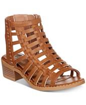 1591fdcf15c Sugar Little   Big Girls Strappy Block-Heel Sandals