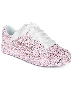 5dc43c8c0424f Juicy Couture Little & Big Girls Avalon Low-Top Glitter Sneakers
