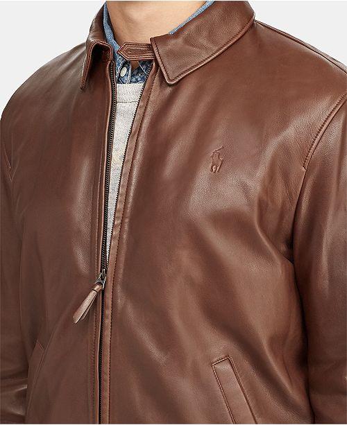 b644d9004 Polo Ralph Lauren Men s Leather Jacket   Reviews - Coats   Jackets ...