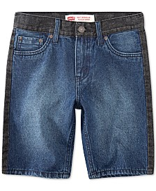 Levi's® Little Boys 502 Regular Taper-Fit Denim Shorts