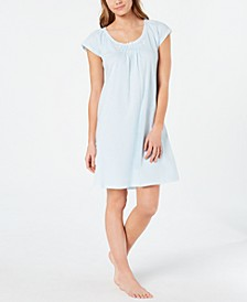Cottonessa Embroidered Knit Nightgown