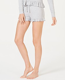 Jenni Ultra Soft Knit Ruffled Pajama Shorts, Created for Macy's