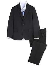 Nautica Little Boys 4-Pc. Herringbone Suit Set