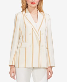Vince Camuto Double-Breasted Striped Blazer