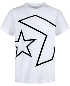 Converse Big Boys Outlined Star Chevron Logo T-Shirt