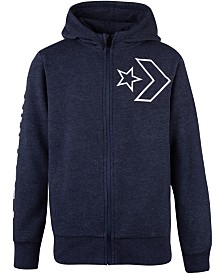 Converse Big Boys Star Chevron Full-Zip Hoodie