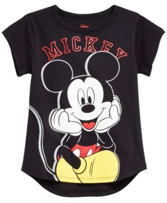 NEW Raglan 3//4 Sleeve X-Ray Mickey Mouse /& Friends Girls Tee Sz M 7//8  L 10//12