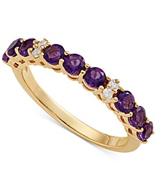 Amethyst (9/10 ct. t.w.) & Diamond Accent Ring in 14k Gold