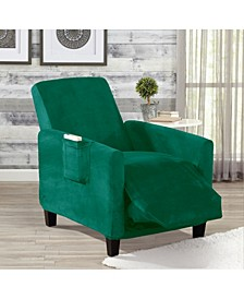 Solid Velvet Plush Form Fit Stretch Slipcover Collection