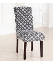2-Pack Velvet Plush Printed Dining Room Chair Cover