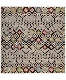"Safavieh Amsterdam Light Gray and Multi 5'1"" x 5'1"" Sisal Weave Square Area Rug"