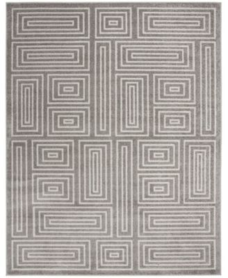Amherst Gray and Ivory 7' x 7' Round Area Rug