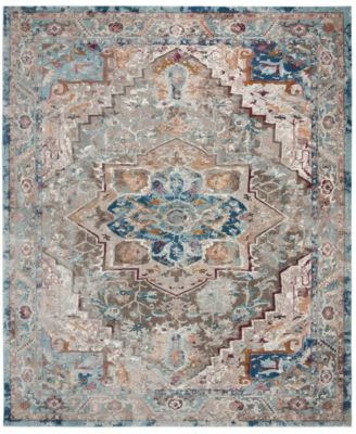 Aria Blue and Beige 8' x 10' Area Rug