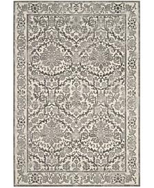 Evoke Ivory and Gray 10' x 14' Area Rug