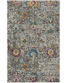 "Merlot Gray and Multi 5'1"" x 7'6"" Area Rug"
