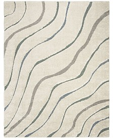 Safavieh Shag Cream and Light Blue 8' x 10' Area Rug