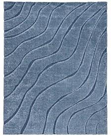 Shag Light Blue and Blue 8' x 10' Area Rug