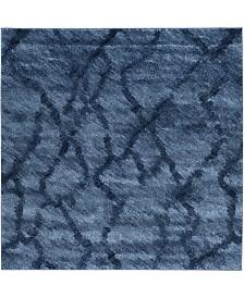 Safavieh Retro Blue and Dark Blue 8' x 8' Square Area Rug