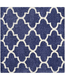 """Safavieh Montreal Periwinkle and Ivory 6'7"""" x 6'7"""" Square Area Rug"""