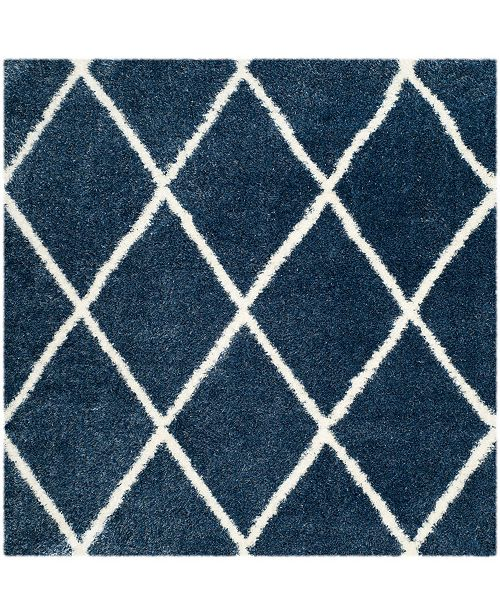 """Safavieh Montreal Blue and Ivory 6'7"""" x 6'7"""" Square Area Rug"""