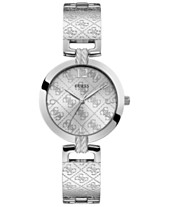 GUESS Women s G-Luxe Stainless Steel Bangle Bracelet Watch 35mm eacba09131d