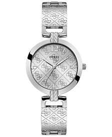 GUESS Women's G-Luxe Stainless Steel Bangle Bracelet Watch 35mm