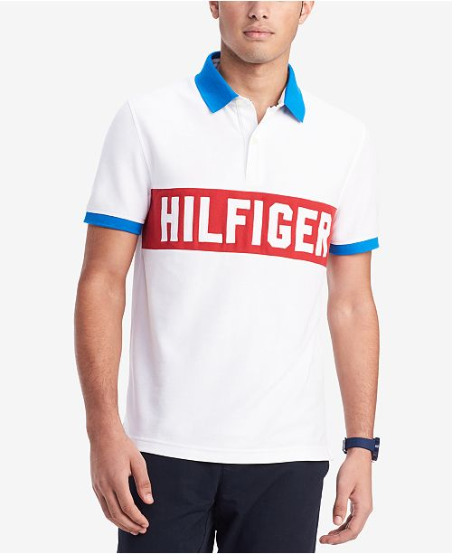 2c2fafbb ... Tommy Hilfiger Men's Custom Fit Logo Graphic Polo, Created for Macy's  ...