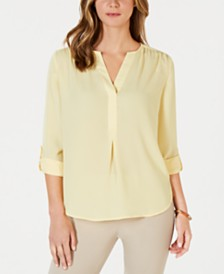 Charter Club Split-Neck Blouse, Created for Macy's