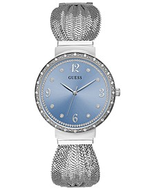 Women's Chiffon Stainless Steel Mesh Bracelet Watch 36mm