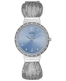 GUESS Women's Chiffon Stainless Steel Mesh Bracelet Watch 36mm