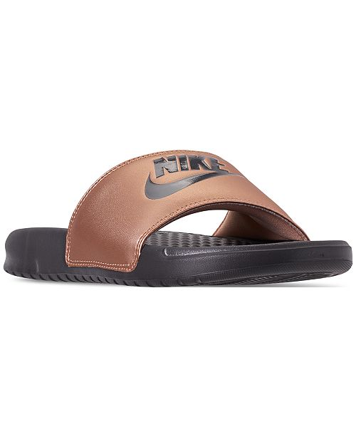 23f2411f082 Nike Women s Benassi JDI Swoosh Slide Sandals from Finish Line ...