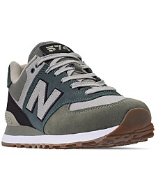 New Balance Men's 574 Military Patch Casual Sneakers from Finish Line