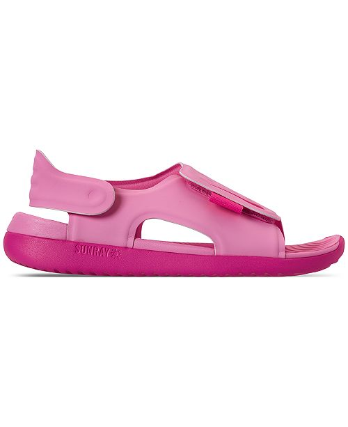 bc46196eb0a9 ... Nike Little Girls  Sunray Adjust 5 Sandals from Finish Line ...