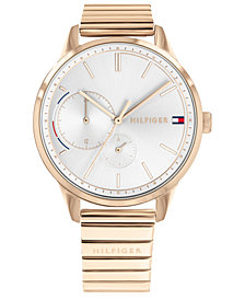 Tommy Hilfiger Women's Brooke Rose Gold-Tone Stainless Steel Bracelet Watch 38mm Created for Macy's