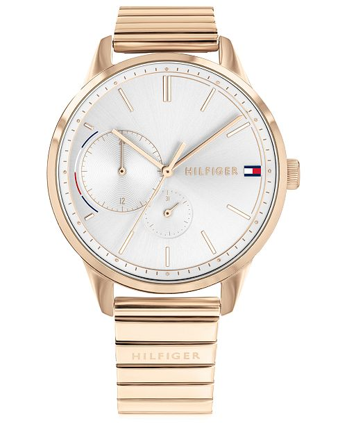 Tommy Hilfiger Women's  Rose Gold-Tone Stainless Steel Bracelet Watch 38mm Created for Macy's