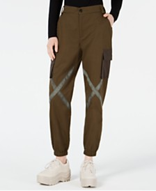 Waisted Crossed Cargo Pants