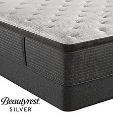 "Beautyrest Silver BRS900C-TSS 16.5"" Luxury Firm Pillow Top Mattress Set - Twin, Created For Macy's"
