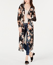 American Rag Juniors' Printed Duster, Created for Macy's