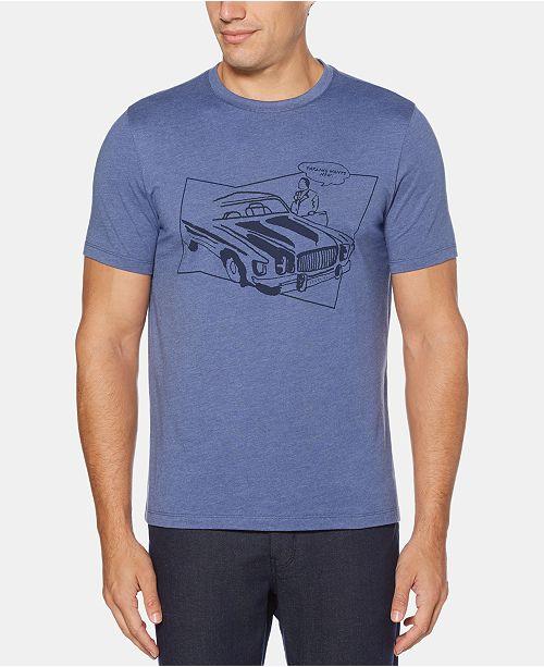 Perry Ellis Men's Car Crewneck Graphic T-Shirt