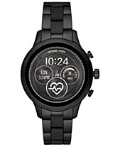 Michael Kors Access Unisex Runway Black IP Stainless Steel and Black  Silicone Bracelet Touchscreen Smart Watch 5b968bcca5