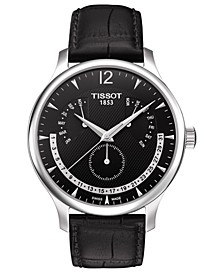 Men's Swiss T-Classic Tradition Black Leather Strap Watch 42mm