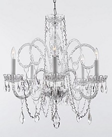 Venetian 5-Light Swarovski Crystal Trimmed Plug-In Chandelier
