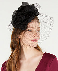 August Hats Flower Netting Fascinator